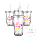 Let's Flamingle Bridal Party Tumblers