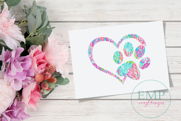 Paw Print Decal - EMP VINYL DESIGNS