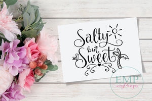 Salty But Sweet Decal - EMP VINYL DESIGNS
