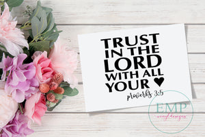 Trust in the Lord laptop Decal - EMP VINYL DESIGNS