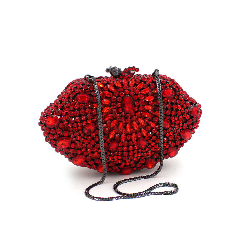 Red Designer Crystal Clutch Purse | Evening special | Party goer favorite | Luxury brand inspired | 2017 Must have | Women special | Uniqueism
