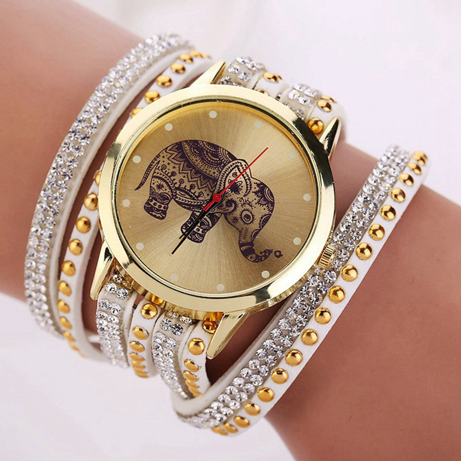Red Hot! 2016 Unique Elephant type watch / Bracelet, Classic Jewelry, Quartz type