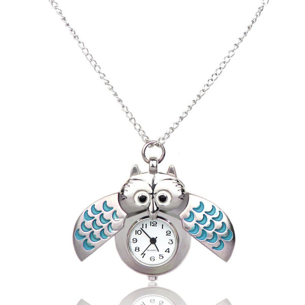 2016 Latest collection, Unique Owl pendant watch chain, Quartz type, Unisex - For Owl lovers!