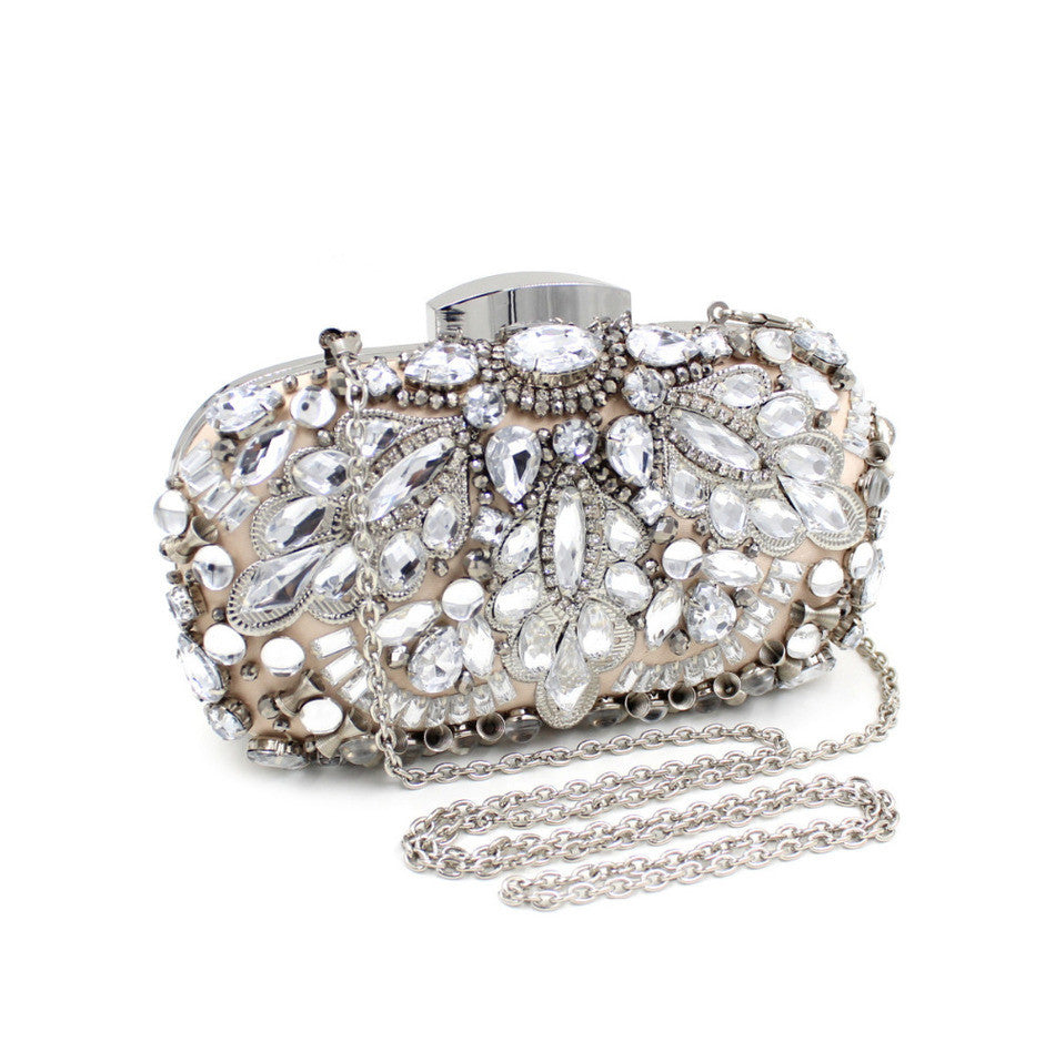 Attractive Alloy Beaded Designer Clutch Purse | Wedding special | Evening Party goer favorite | Luxury brand inspired | 2017 Must have | Women special | Uniqueism