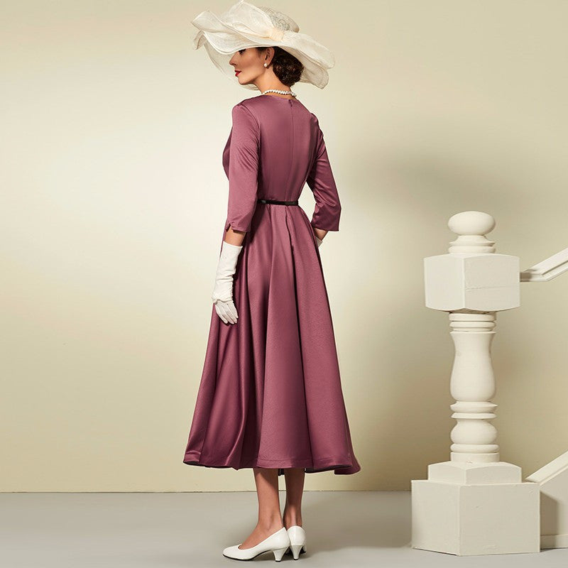 Autumn Special Purple Women Vintage dress | Evening special | Party goer favorite | Luxury brand inspired | 2017 Must have | Women special | Uniqueism