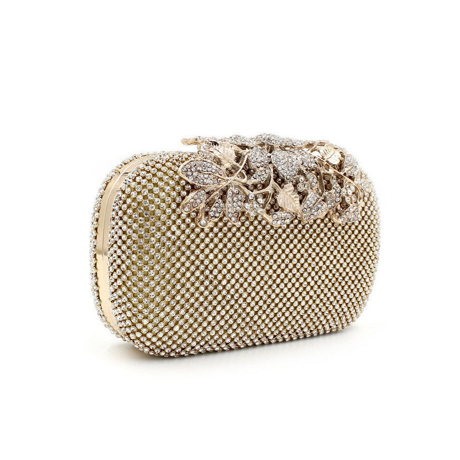 Alluring Rhinestone Crystal Clutch Purse | Wedding special | Party goer favorite | Luxury brand inspired | 2017 Must have | Women special | Uniqueism