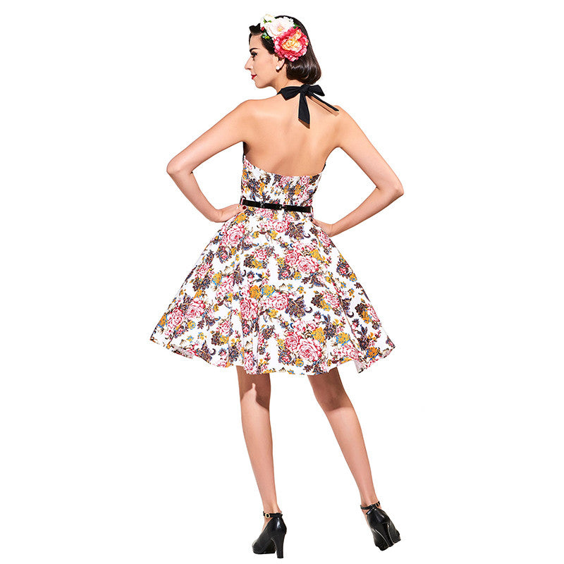 Vintage 1950s Floral Women Dress | Evening special | Party goer favorite | Luxury brand inspired | 2017 Must have | Women special | Uniqueism