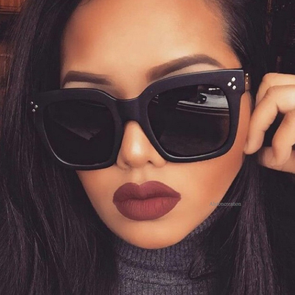 Flat top eye wear | Luxury brand sunglass | Kim Kardashian style | Women special | 2017 Bestseller