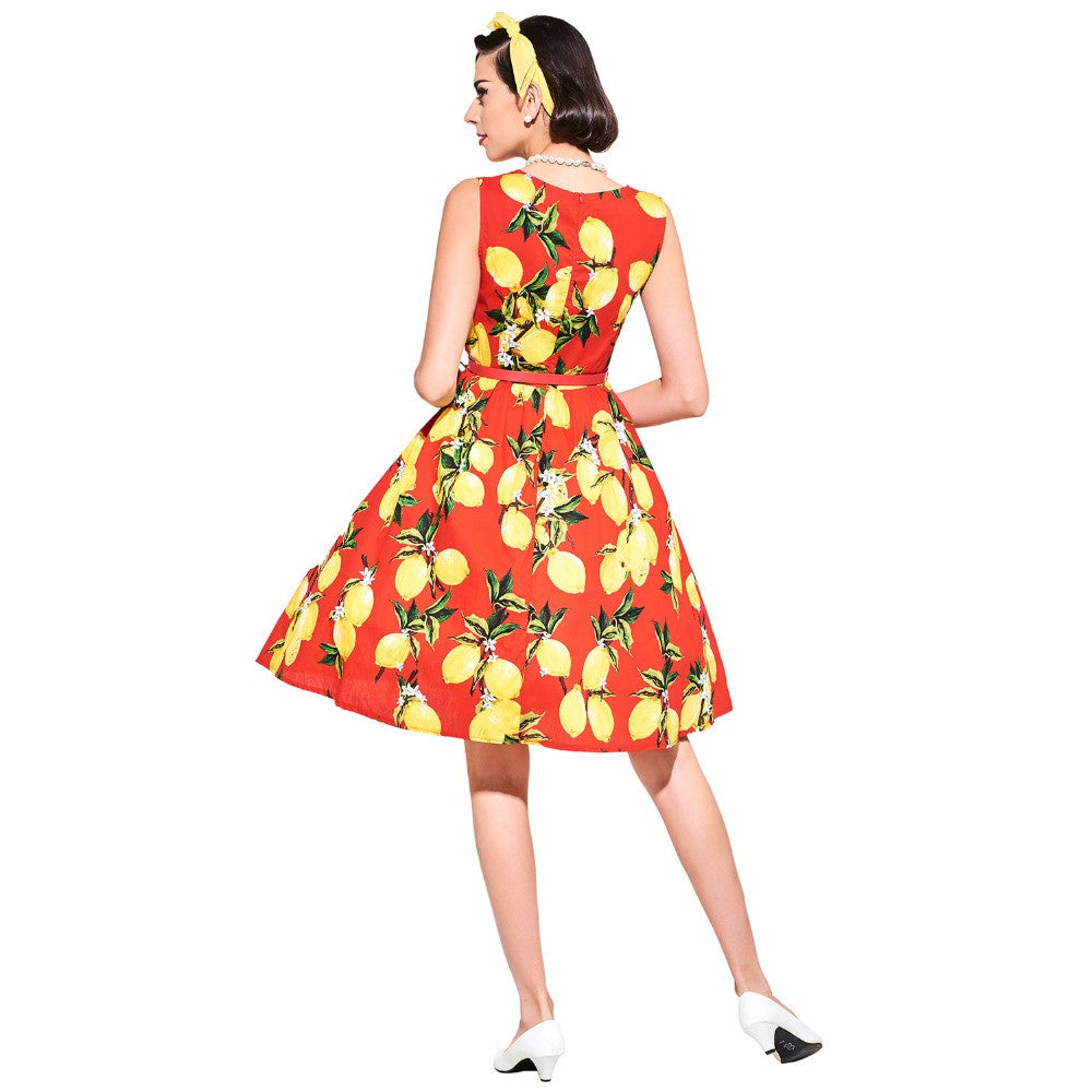 Vintage Lemon prints Multicolored Women Dress| Evening special | Party goer favorite | Luxury brand inspired | 2017 Must have | Women special | Uniqueism