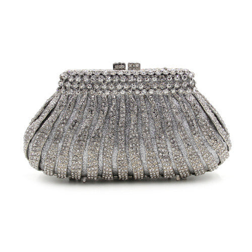 Striking Silver Luxury Crystal Clutch Purse | Evening special | Wedding Clutch | Luxury brand inspired | 2017 Must have | Women special | Uniqueism