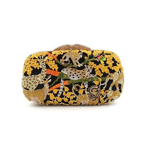Unique Zoo Animal Crystal Clutch Purse | Evening special | Party goer favorite | Luxury brand inspired | 2017 Must have | Women special | Uniqueism