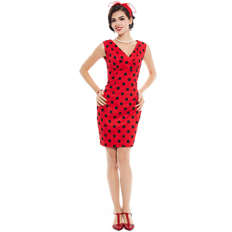 Cute Vintage Red Women Dress with Polka dots | Evening special | Party goer favorite | Luxury brand inspired | 2017 Must have | Women special | Uniqueism