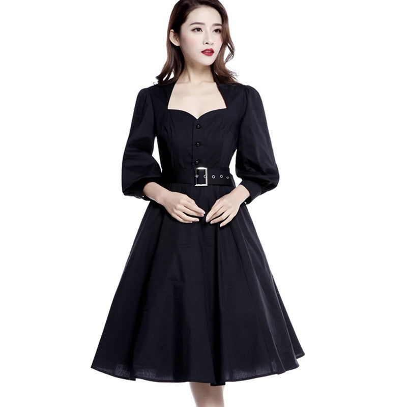 Vintage 50s Black Retro Women dress | Evening special | Party goer favorite | Luxury brand inspired | 2017 Must have | Women special | Uniqueism