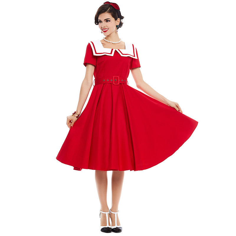 Spring red Pin Up Women Vintage Dress | Evening special | Party goer favorite | Luxury brand inspired | 2017 Must have | Women special | Uniqueism