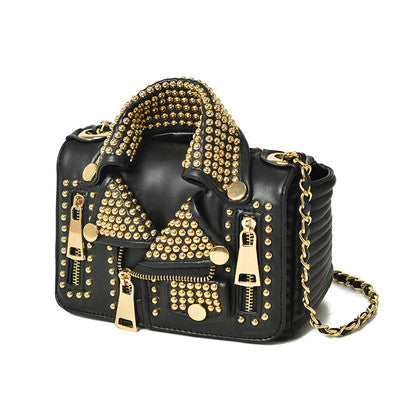 Rivet Jacket Punk Style Multicolored Shoulder Bag | Handicraft | Party goer favorite | Luxury brand inspired | 2017 Must have | Women special | Uniqueism