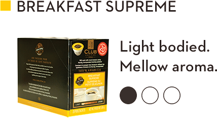 CLUB COFFEE BREAKFAST SUPREME (20 Pack)