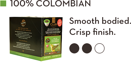 CLUB COFFEE 100% COLOMBIAN (20 Pack)