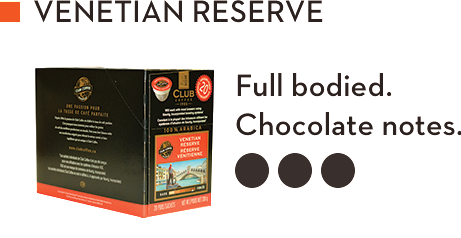 CLUB COFFEE VENETIAN RESERVE (20 Pack)