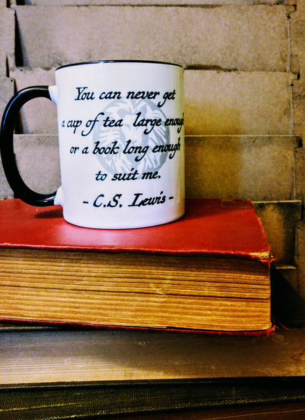 C.S. Lewis on Tea and Books Mug - Drinklings