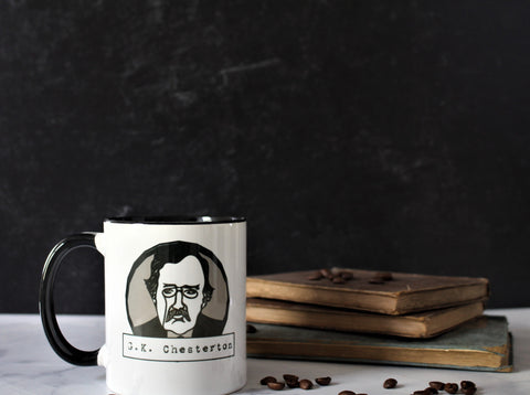 The G.K. Chesterton Mug - The Poets Have Been Mysteriously Silent on the Subject of Cheese