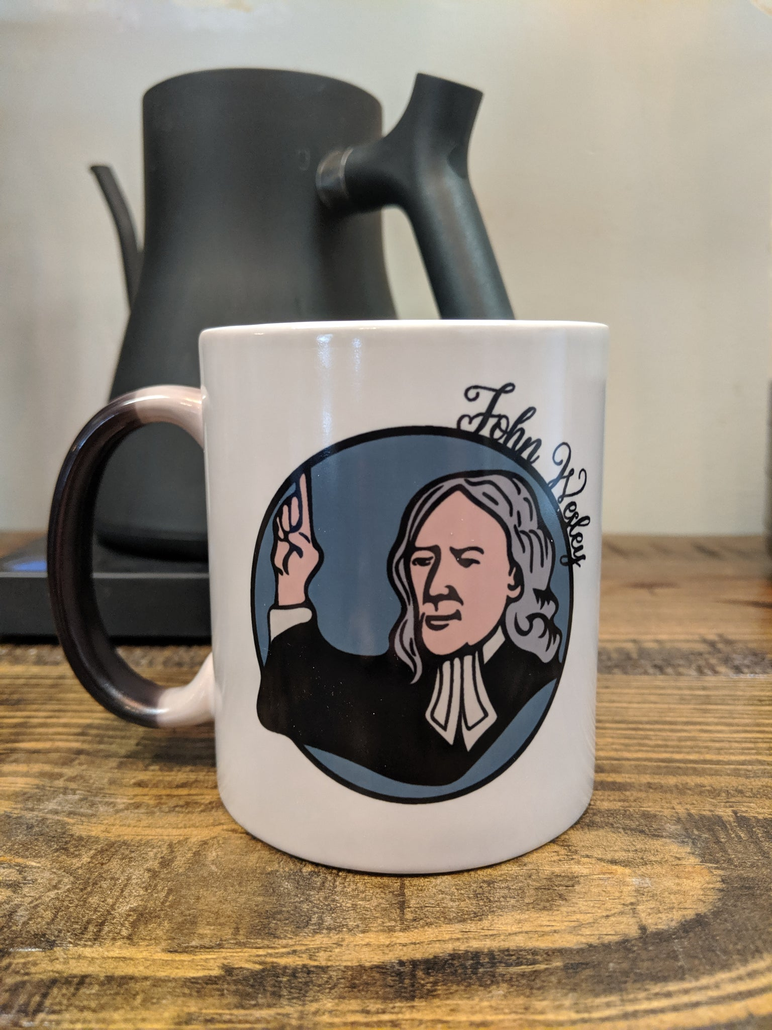 The John Wesley Mug - My Cup is Strangely Warmed Magic Mug - Drinklings