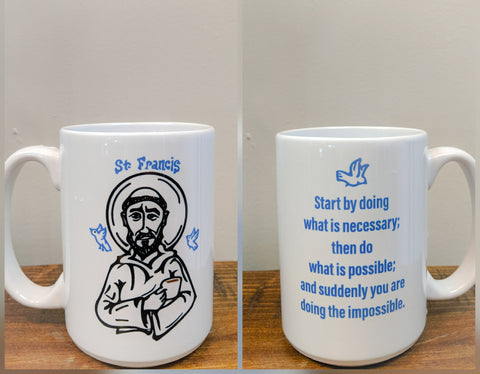 The Francis Of Assisi Mug - Drinklings