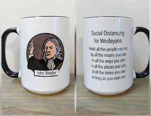 Social Distancing for Wesleyans Mug - Drinklings
