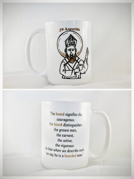 Augustine Beard Quote Mug - Drinklings
