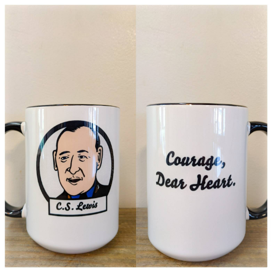 C.S. Lewis - Courage Dear Heart Mug - Drinklings
