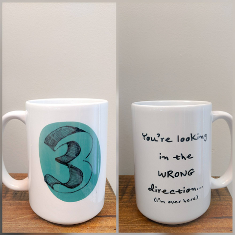 The Enneagram Number Mug - Number Three (The Performer) - Drinklings
