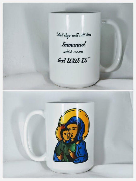 Mary and Jesus Icon Mug - Drinklings