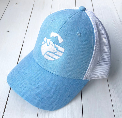 Heather Blue Hat