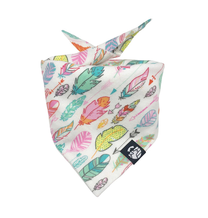 Colored Feathers Bandana (Snuggle Fabric)