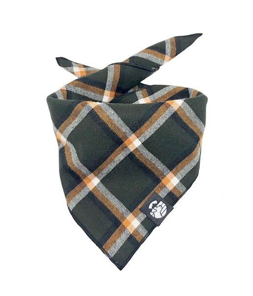 Hunter Green Plaid Bandana