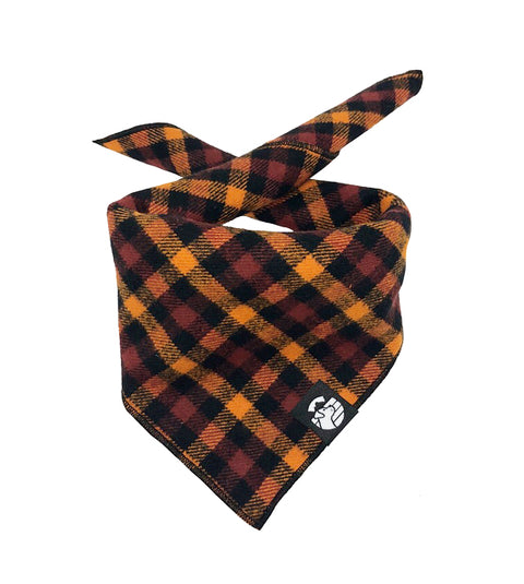 Checkered Autumn Bandana