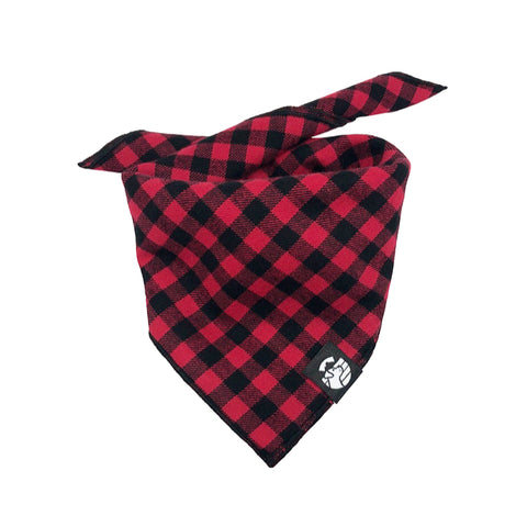 Red & Black Checkered Bandana