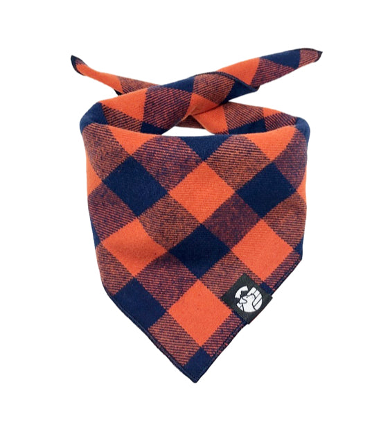 Orange & Blue Checkered Bandana