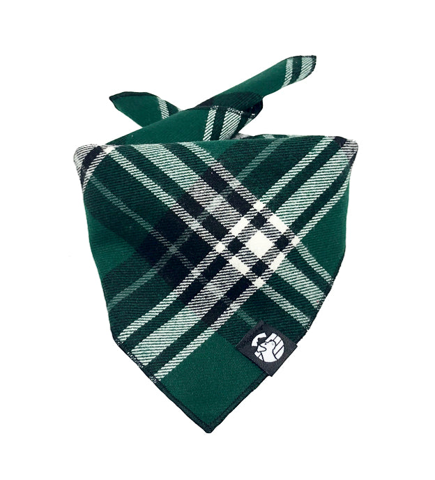 Green Plaid Bandana
