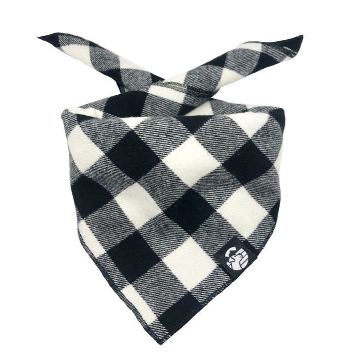 Classic Black & White Checkered Bandana