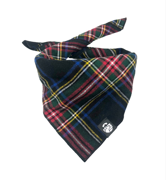 Black Plaid Bandana