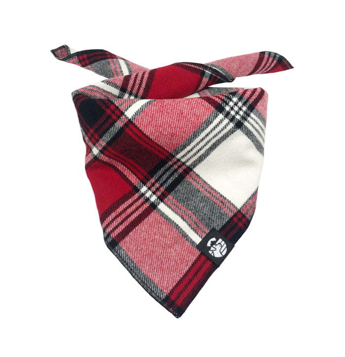 Faded Red Plaid Bandana