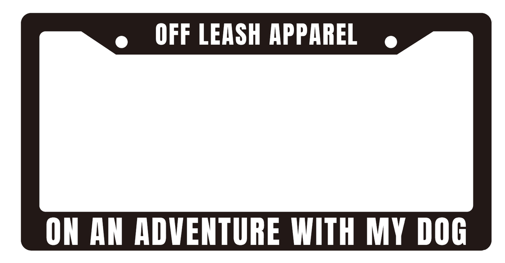 Adventure License Plate Frame