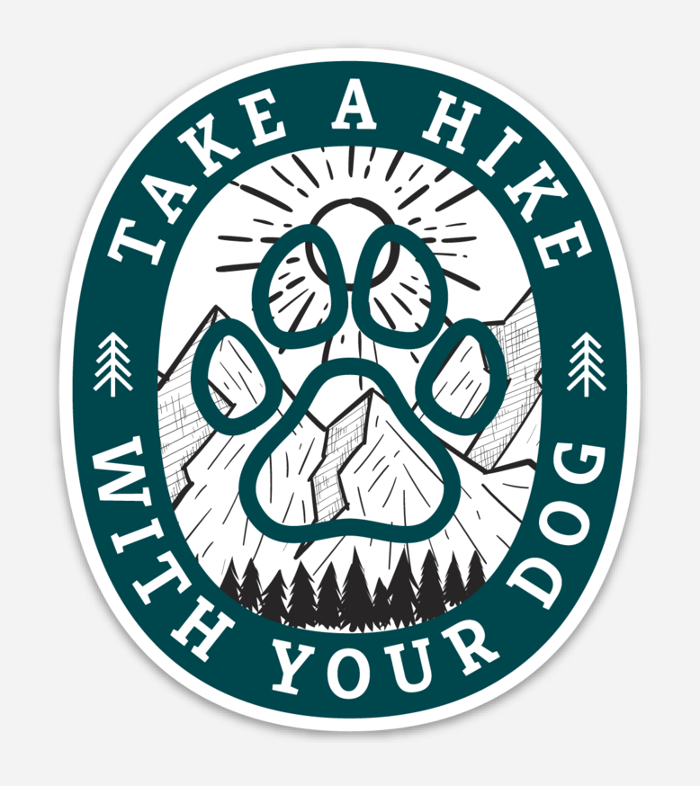 Take A Hike With Your Dog Sticker