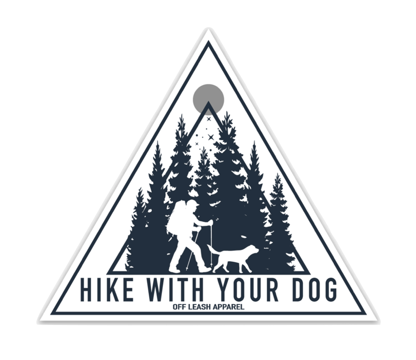 Hike With Your Dog Sticker