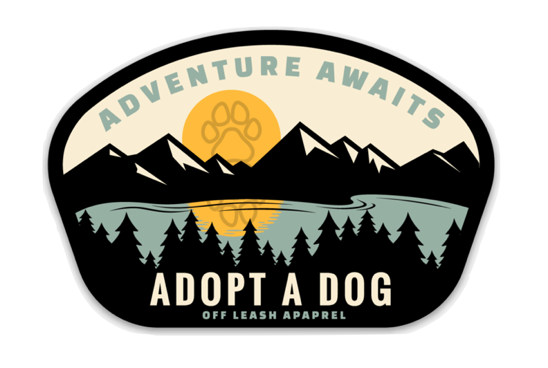 Adventure Awaits - Adopt A Dog Sticker