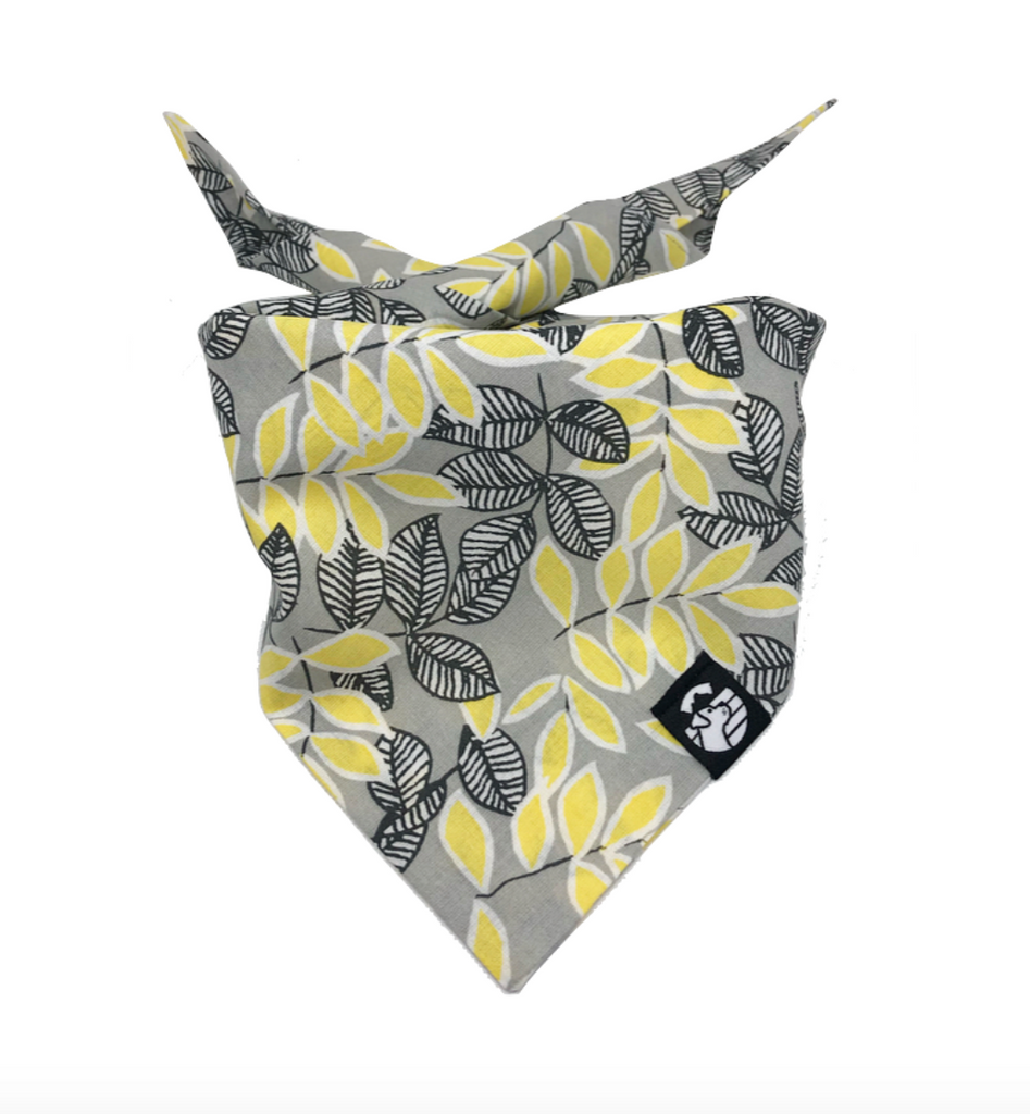 Yellow Flowered Bandana
