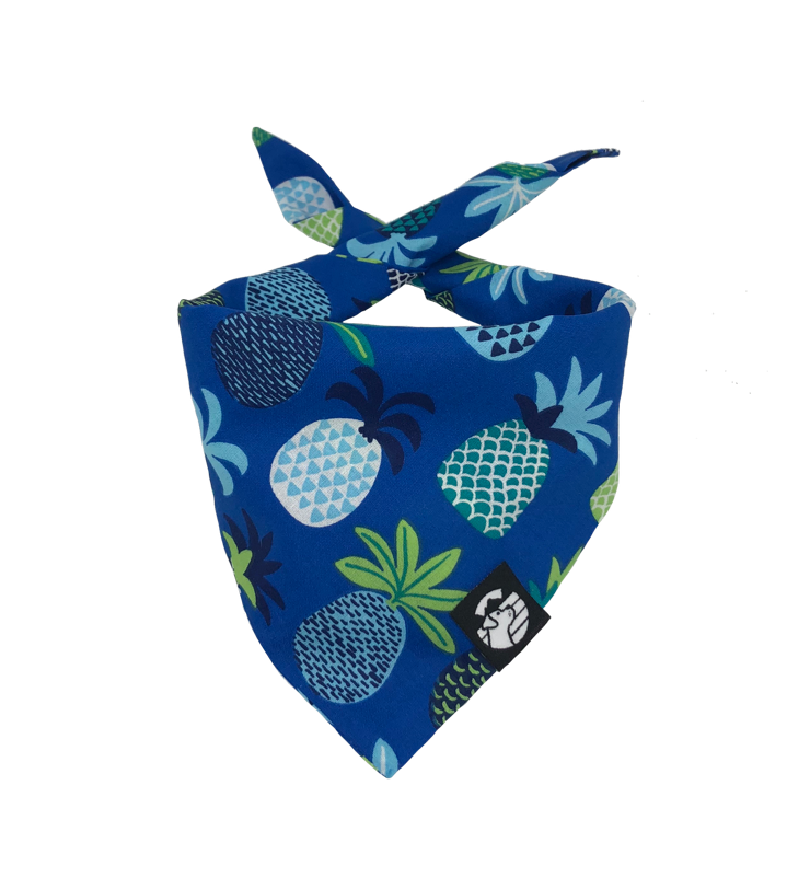 Blue Pineapples Bandana