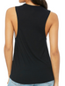Black Colored Logo Tank Top