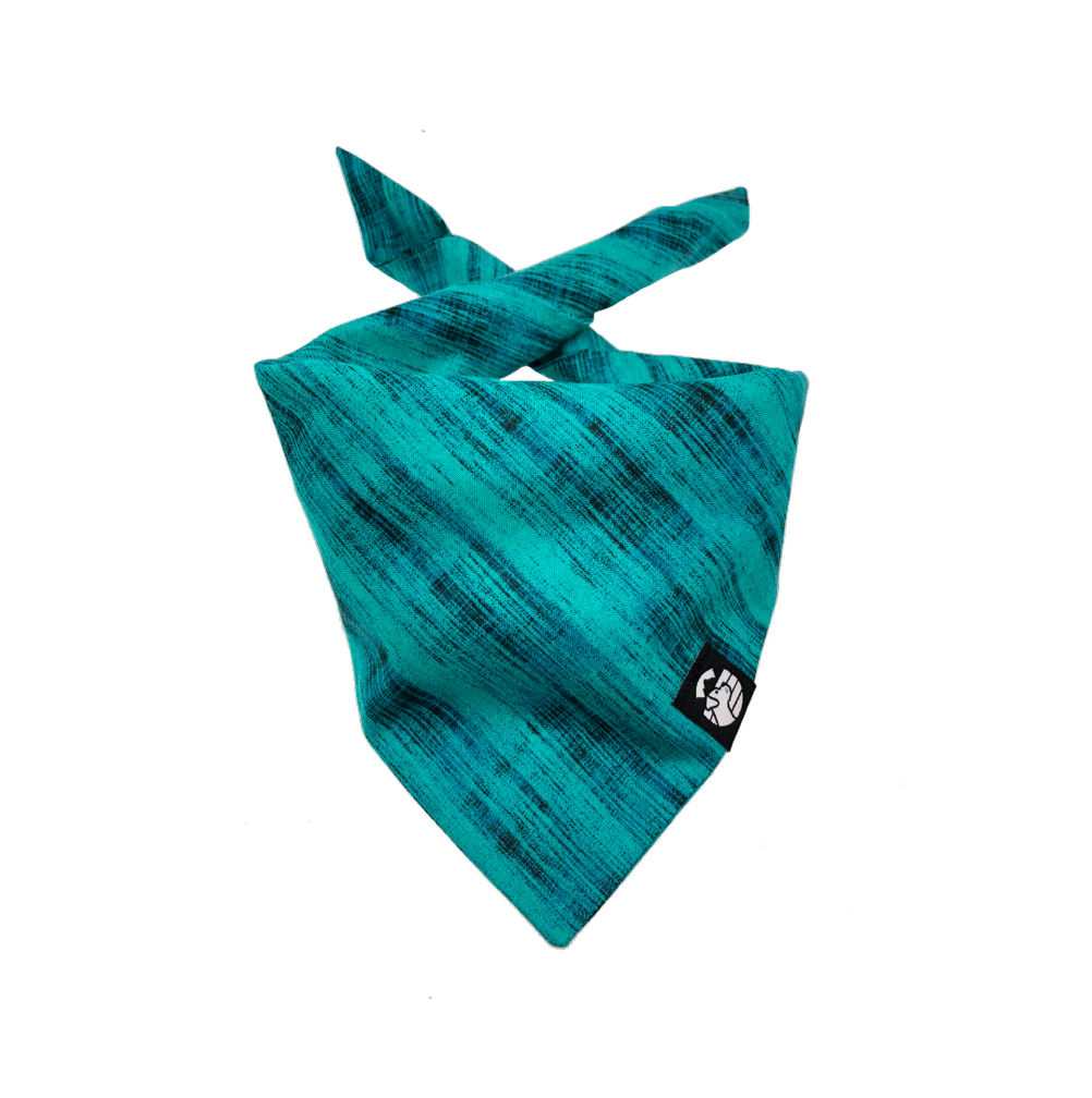 Abstract Teal Bandana