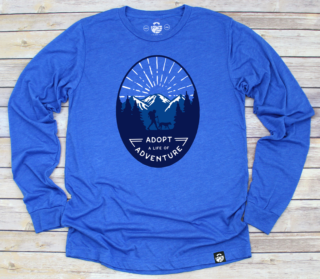 Adopt a Life of Adventure Long Sleeve (Royal Blue)